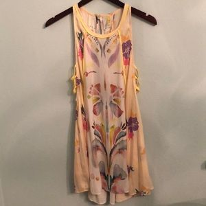 ✨HP✨ Free People Yellow Floral Patterned Dress